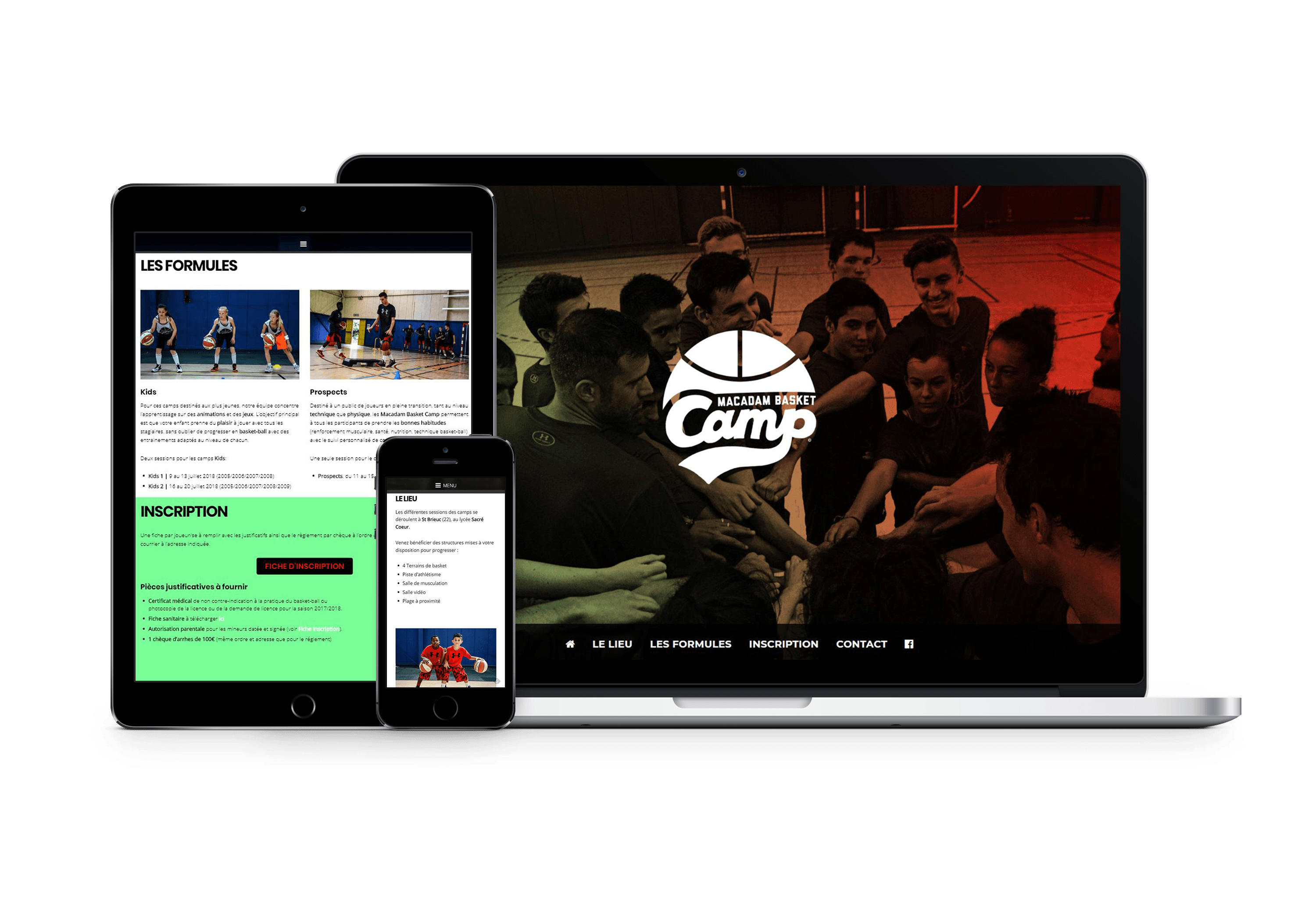 Macadam Basket Camp | Site Internet